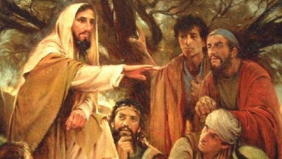 Jesus teaching fraternal correction