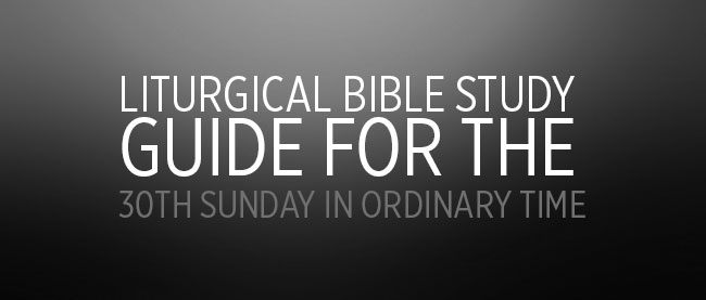 30th Sunday in Ordinary Time cycle B