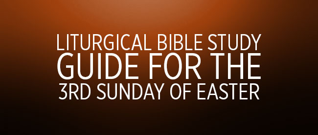 Liturgical Bible Study Guide: 3rd Sunday of Easter Cycle A